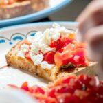 Bruschetta sicilienne du restaurant les amis des Messina